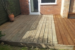 Mountstevens Cleaned and part painted decking